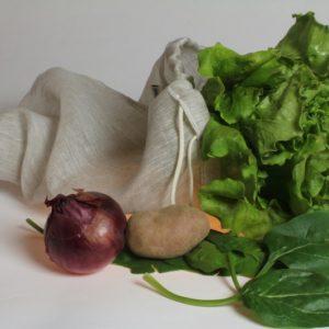 sac àvrac réutilisable en tissu de lin biologique fabriqué en France