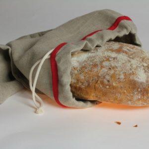sac à pain en toile de lin produit en France