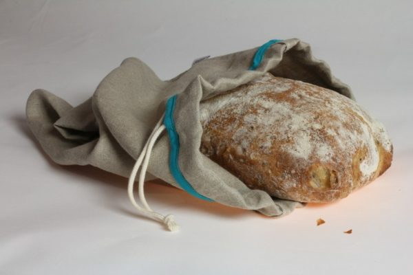 sac à pain en toile de lin