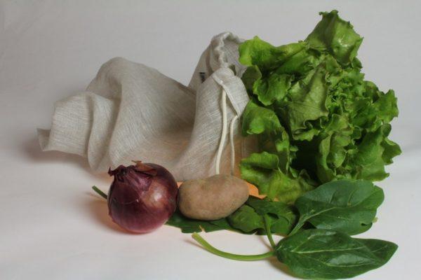 sac à fruits et légumes en lin français