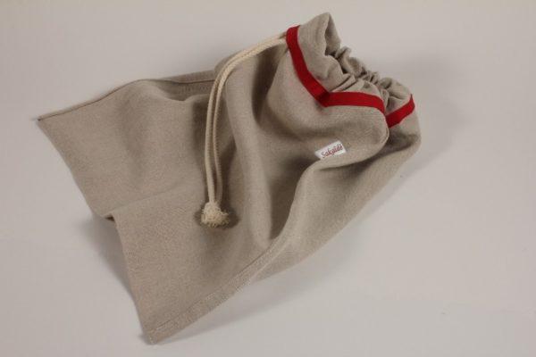 sac à pain en toile de lin biologique - vendu à l'unité -
