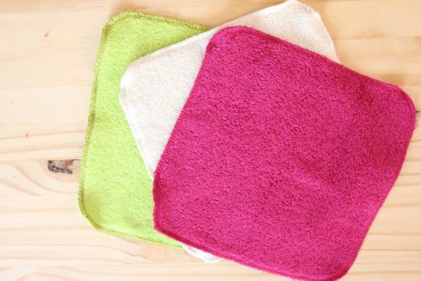 essuie tout lavable en éponge de coton bio