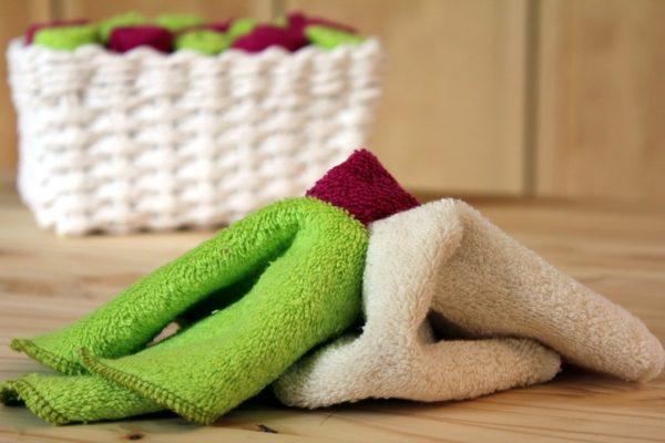 essuie tout lavable en coton bio